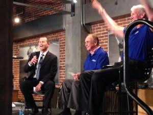 David Berry, Dick Enberg and Bill Walton at Petco Park for the 2014 Servant Leadership Winter Conference