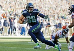 Jimmy Graham touchdown catch - September 27, 2015. Photo credit: Elaine Thompson/AP