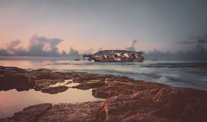 ship wreckage